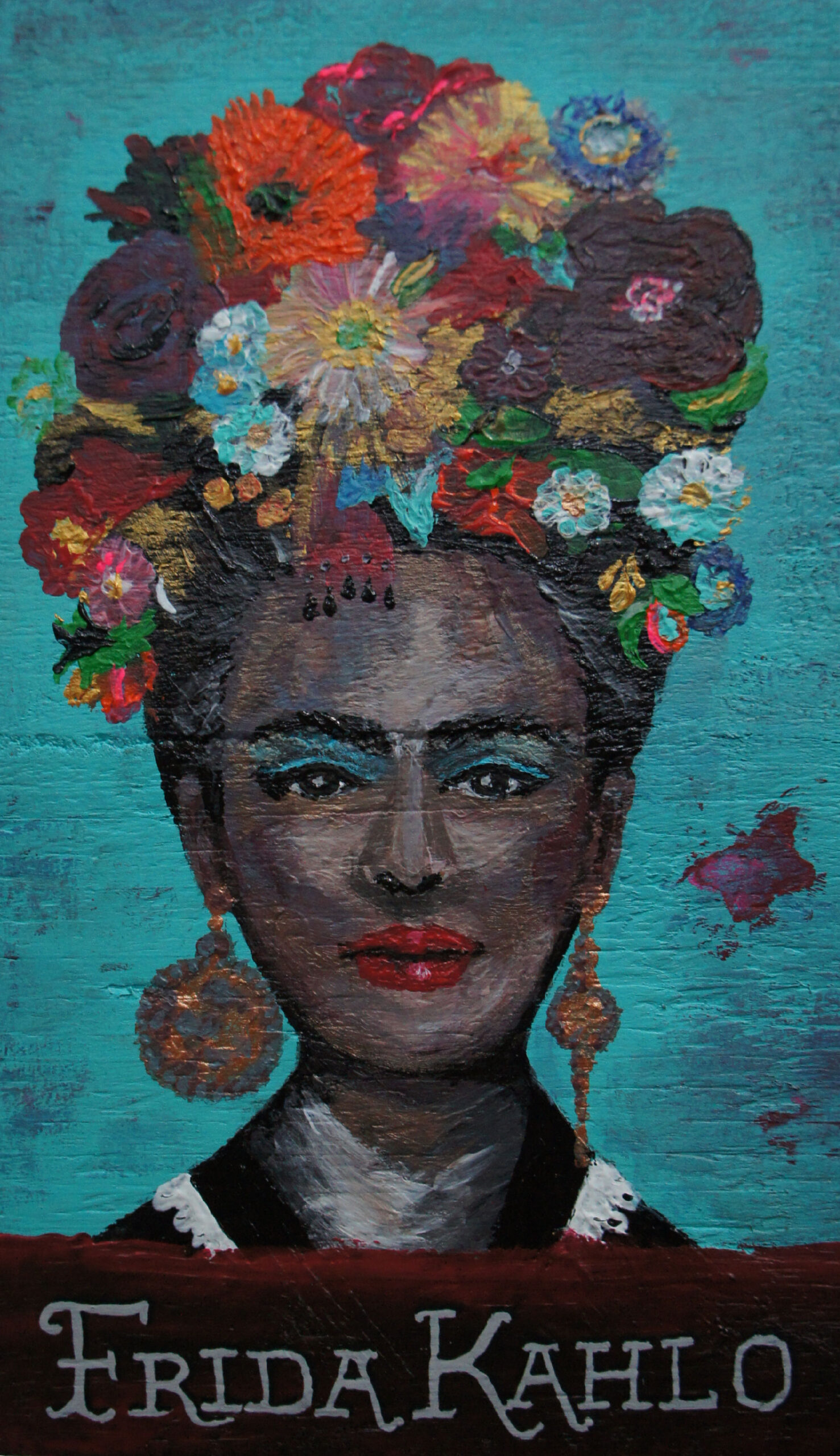Frida Kahlo - Acryl op hout